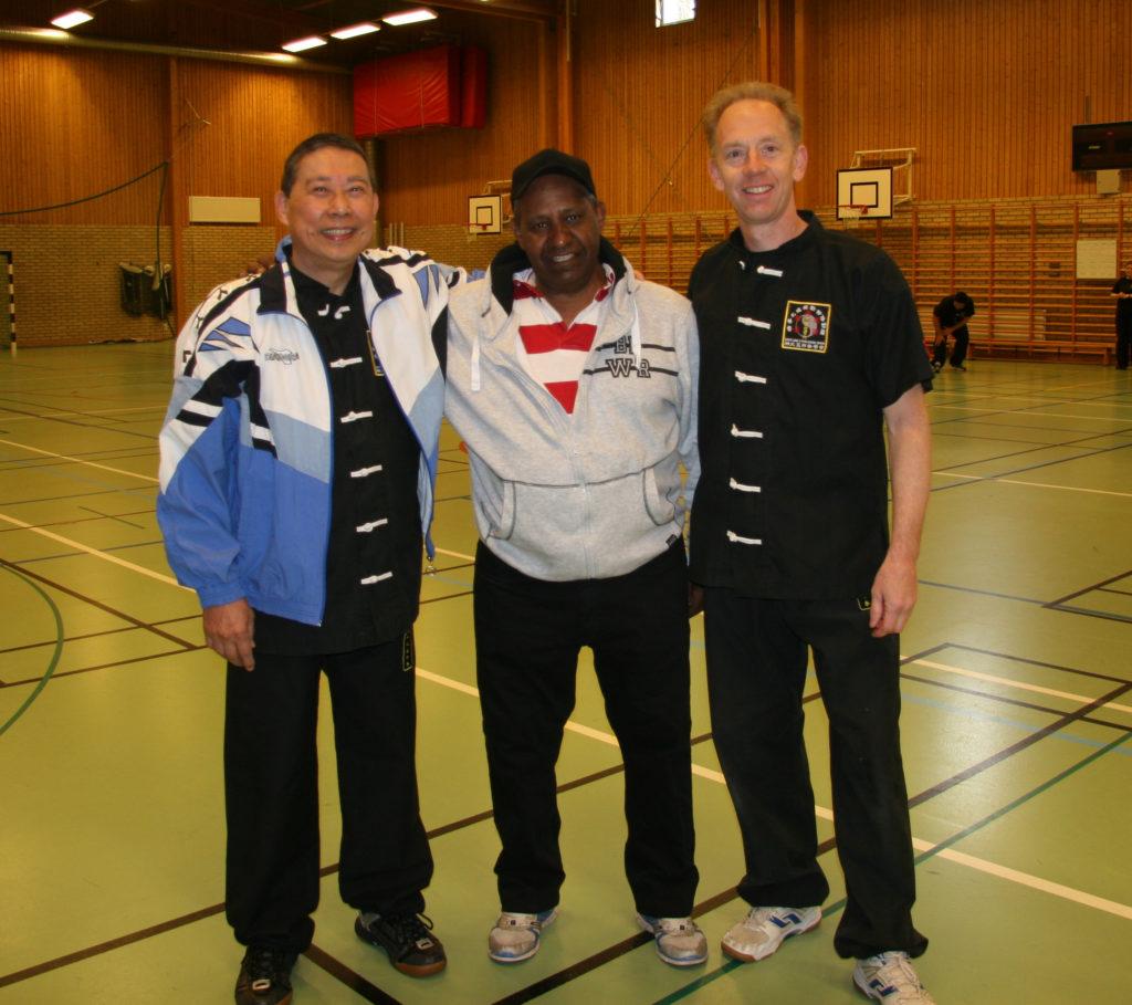 Da Sifu Louis Linn, Ali Kahian och Sifu Peter Renström